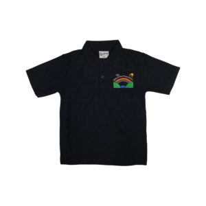 Fairburn View navy polo
