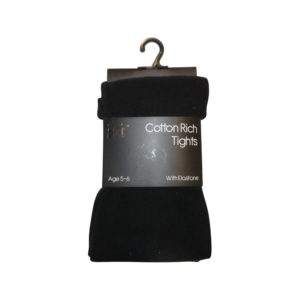 Girls School Tights Blk