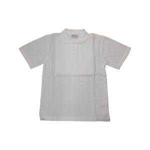 Girls white PE Polo