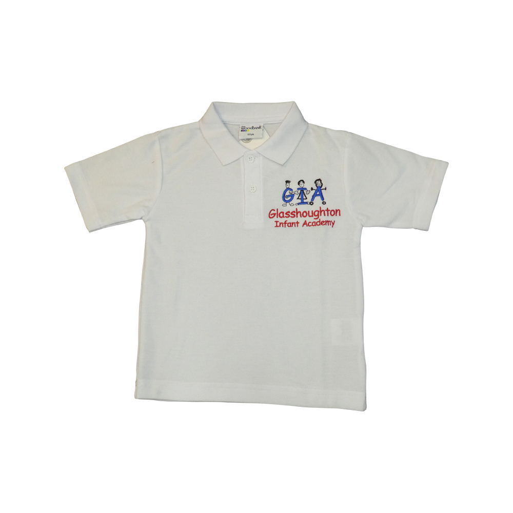 Glasshoughton Infant school white polo
