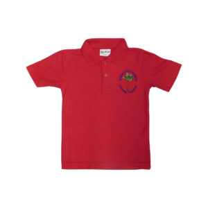 St Giles red polo