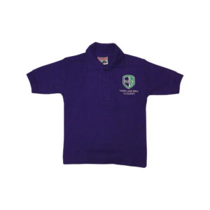 Three Lane Ends purple polo