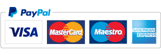 We Accept Visa Mastercard Maestro and AMEX through PayPal